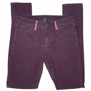 Joe's Jeans Bordeaux Suede Pocket Skinny Corduroys